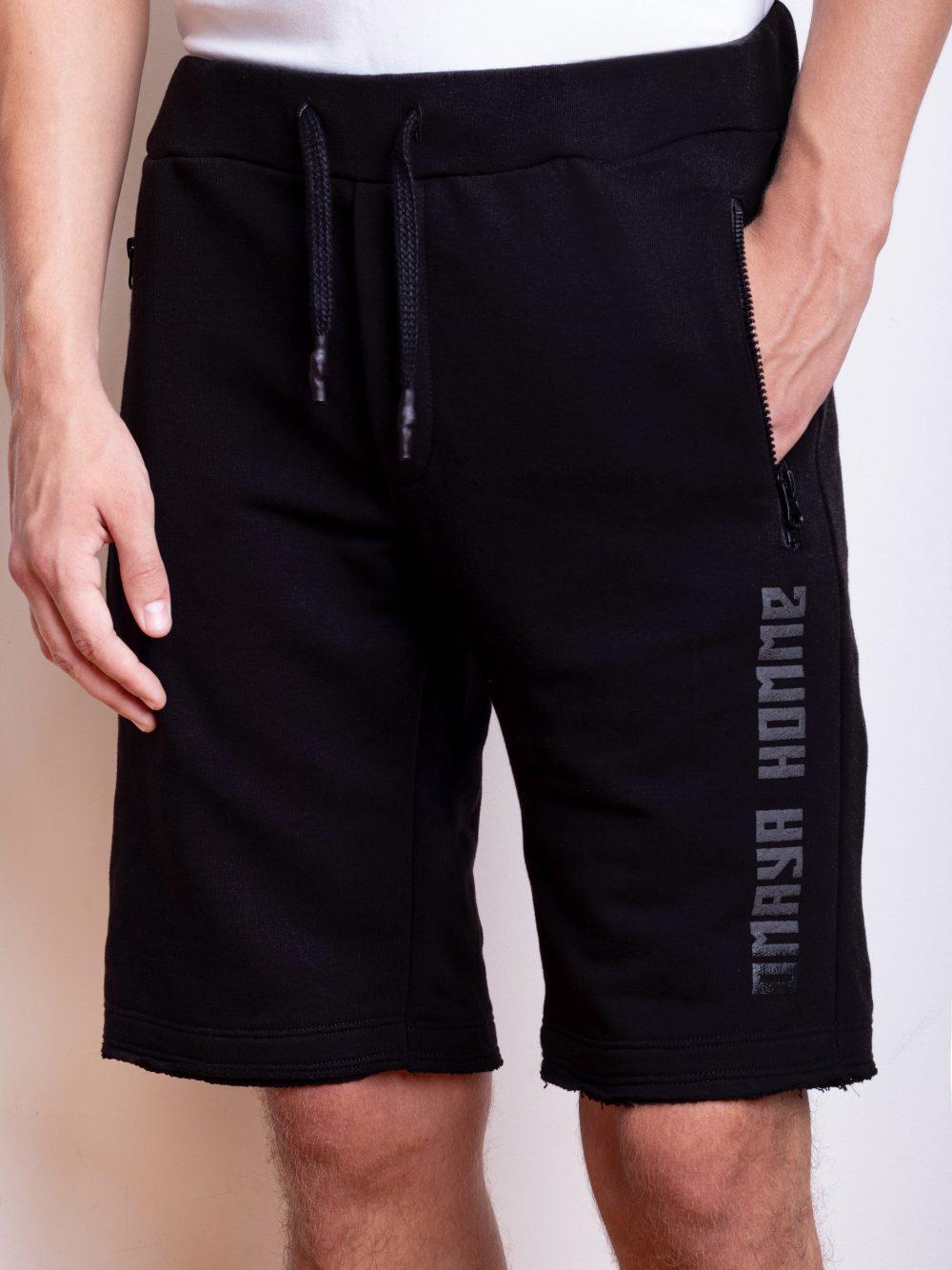 black shorts with zipped pockets